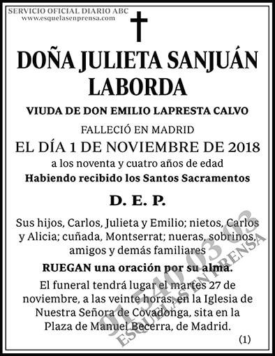 Julieta Sanjuán Laborda